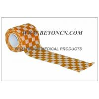 Self Adhesive Elastic Bandage / Self Adherent Wrap with Orange Check Printing Manufactures
