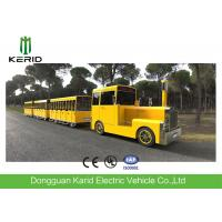 Gasoline Power 62 Seats Mini Trackless Train 76 KW Rated Power CE Approved Manufactures