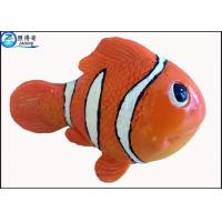 Small Orange Resin Artificial Fish for Aquarium Decoration / Custom Fake Fish Ornaments Manufactures