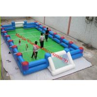 Quality inflatable football pitch inflatable football field  soccer field with iron / metal for sale