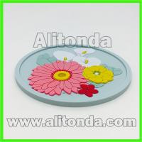 Buy cheap Custom anti-slip soft pvc round shape 2d with any image design coaster from wholesalers