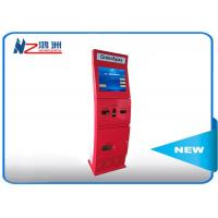 Free standing intelligent Ticket Vending Kiosk with camare / ticket vending dispenser Manufactures