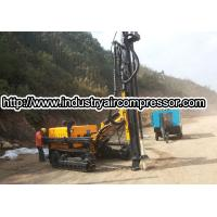 China Hydraulic  power crawler rotary drilling rig machine  80 -105mm  25m deepth on sale