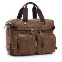 Dual Use Canvas Office Laptop Bags ,  15 Inch Laptop Messenger Bags School Use Durable Manufactures