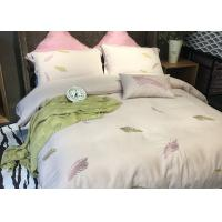 Cotton Blending Embroidered Twin Bed Duvet Covers And Shams Size Customized Manufactures