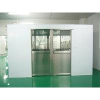 Hidden Auto Cargo Tunnel Type Air Shower Clean Room With Double Leaf Sliding Doors Manufactures