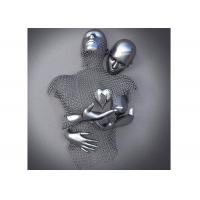 Contemporary Wall Art Design Stainless Steel Figurative Love Sculpture Manufactures