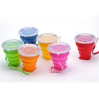 China Portable Retractable Silicone Drinking Cups 300ml Capacity For Travel on sale