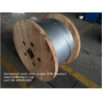 Zinc Coating Steel Wire Cable 7/3.05mm 7/3.45mm With Scratch And Corrosion Resistant Coating Manufactures