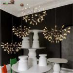 Creative Art Designer Chandelier Lighting Tree Leaf Vintage LED  Lamp Fixtures By Bertjan Pot Suspension Lamp Manufactures