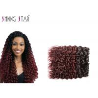 100 Water Wave Hair Bundles , Ombre Water Wave Hair Blonde Weft 1B Bug Manufactures