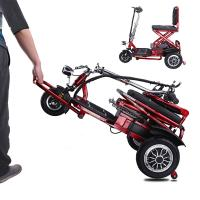 Fortable three wheel scooter for elderly people folding tricycle 12AH lithium