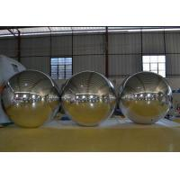 Silver Inflatable Mirror Ball For  Event / Balloons Advertising / Decoration / Party Manufactures