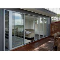 Luxury Aluminium Sliding Doors Size Customized Heat Insulation For Interior Manufactures