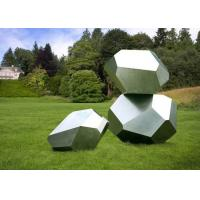 Buy cheap Stainless Steel Garden Sculptures Sandblasting Square Decoration from wholesalers