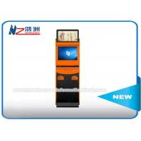 Self Service Bill Payment Ticket Vending Kiosk With Card Dispenser Dual Screen Manufactures