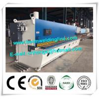 High Tech QC11Y Guillotine NC Shearing Machine And Press Brake For Steel Plate Manufactures