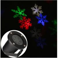 outdoor moving white/colorful Lighting led snowflake projector show Landscape garden laser lighting Manufactures