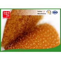Quality Orange colour die cutting hook and loop hook and loop dots with adhesive backing for sale
