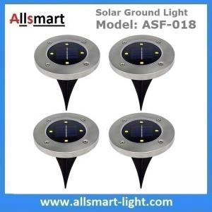 Quality Solar Ground Lights Warm 4 LED Solar Inground Spotlights White Solar Pathway Stake Lights Outdoor Solar Landscape Light for sale