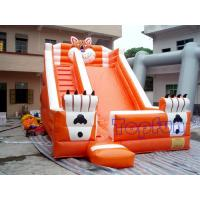 Playground Funny Inflatable Water Slide , Outdoor Orange Inflatable Tiger Slide Manufactures