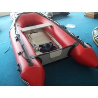 Big Red PVC Inflatable Boat For Adult / Inflatable Fishing Boat Manufactures