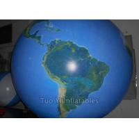 Radius 1.5 M Earth Globe Balloons , Huge Inflatable Globe Helium Gas Balloon Manufactures