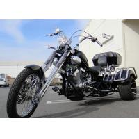 China Harley Style 250cc Adult Two Front Wheel Motorcycle With Rear Box / Fender on sale