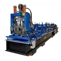 Full Automatic Z Purlin Roll Forming Machine With Punching PLC Control System Manufactures
