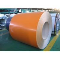 Galvalume PPGL Prepainted Steel Coil 0.16 X 914 Mm AZ50 / Orange Color Coated Steel Coil Manufactures