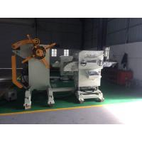 800mm Galvanized Coil Roll Decoiler Straightener Feeder Machine With Cylinder Disc Brake Manufactures