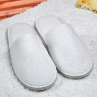 Buy cheap Velour Thickness Eva Hotel Style Slippers , White Towelling Slippers For Bathroom from wholesalers