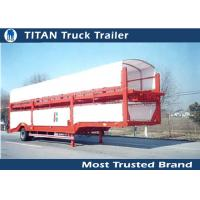 China Enclosed Vehicle Transport Semi Trailer Car Hauler with Mechanical suspension on sale