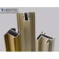 Gold Anodized Aluminum Window Extrusion Profiles , Extruded Aluminum Window Frame Manufactures