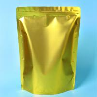 Custom Gold Coffee Bean Packaging , Stand Up Packaging Pouch Bag With Valve Manufactures