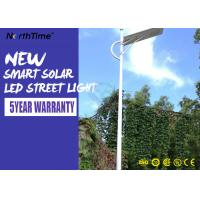 Aluminum Solar Powered Road Lights IP65 Wall / Pole Mount Night Area Security Lighting 3000LM Manufactures