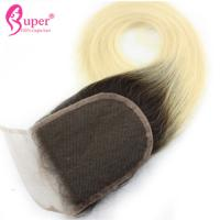 Pre Plucked Lace Virgin Hair Closures Ombre Cuticle Aligned Straight