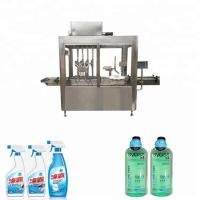 304 Stainless Steel Plastic Bottle Filling And Capping Machine 50ml - 1000ml Filling Range Manufactures