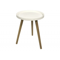5KG Height 50cm White Side Table With PP Top Manufactures