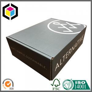Quality Black Color Print Custom Logo Corrugated Shipping Box; Cardboard Mailing Box for sale