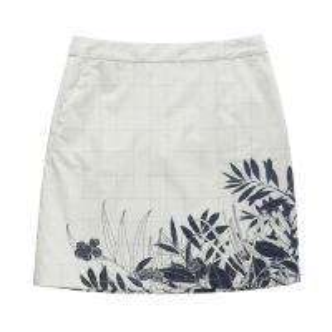 Quality White Flower Print Ladies Casual Skirts / Summer Girls Short Skirt for sale