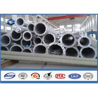 7M ~ 15M Steel Tubular Structures Electric Power Pole Polygonal shppe Low Voltage Manufactures