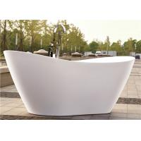 Quality PMMA Portable Freestanding Oval Tub , White Plated Freestanding Soaker Tubs for sale