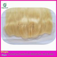 7A malaysian virgin hair 3-part lace frontals 13''x4'' ,613# color straight hair closure Manufactures