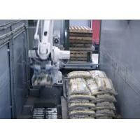 Mobile Packaging Palletizing Line In Trailer , Automatic Packaging System Customized Manufactures