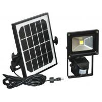 12 / 24 vdc Solar Flood Lights Motion Sensor 10w Polycrystal Panels 1000 lumens Manufactures