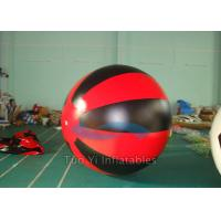 Red Black Custom Printing Balloons , Hand Drawing Sky Advertising Balloons Manufactures
