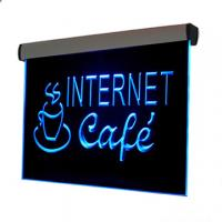 500x300mm silver aluminum frame colorful led edge lit sign Manufactures