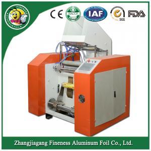 "most popular 3"" core aluminum foil rewinding and cutting machine Manufactures"