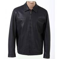 Trendy Size 54 Western Black Classic Fitted Mens Lightweight PU Leather Jackets Manufactures